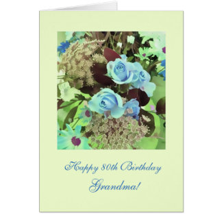 80.o cumpleaños (de la edad) tarjeta de felicitación