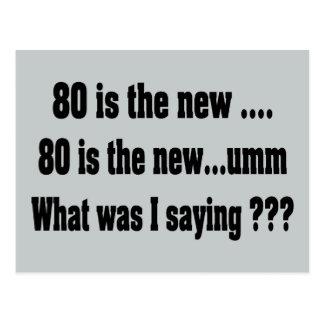 80.o cumpleaños divertido - 80 es los nuevos ..... postal