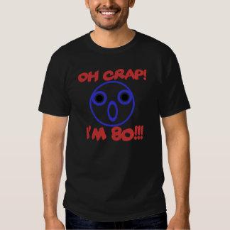 80.o cumpleaños divertido camisetas