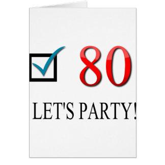 80 o cumpleaños feliz felicitación