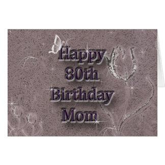80 o cumpleaños feliz tarjetas