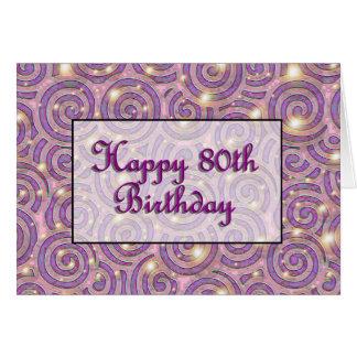 80 o cumpleaños feliz tarjetón