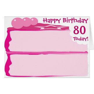 80.o cumpleaños feliz tarjeta de felicitación