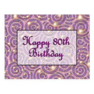 80 o cumpleaños feliz tarjeta postal
