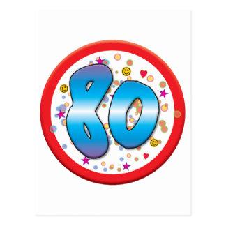 80.o Cumpleaños Postal