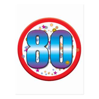 80.o Cumpleaños v2 Tarjeta Postal