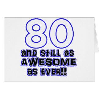 80.o diseño del cumpleaños tarjeta de felicitación