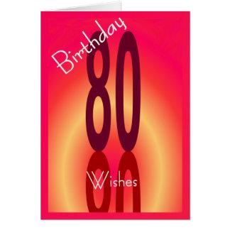 80.o El cumpleaños desea la tarjeta para cualquier