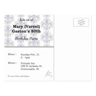 80.o El cumpleaños invita Postal