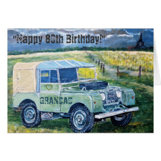 80.o ❤️ feliz de la tarjeta de cumpleaños para el