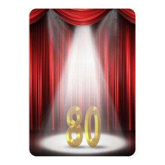 80.o Fiesta de cumpleaños Invitación 11,4 X 15,8 Cm