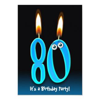 80.o Fiesta de cumpleaños Invitación 12,7 X 17,8 Cm