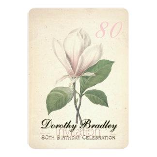 80.o Fiesta de cumpleaños - invitación de encargo