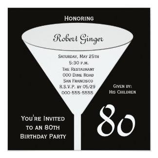 80.o Invitación 80 de la fiesta de cumpleaños en