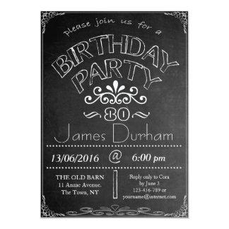 80.o Invitación de la celebración del cumpleaños