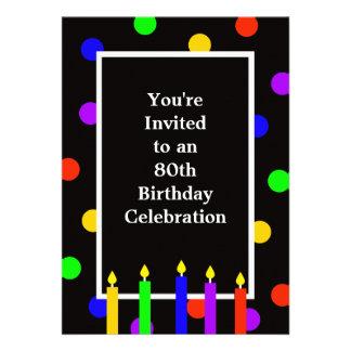 80 o Invitación de la fiesta de cumpleaños