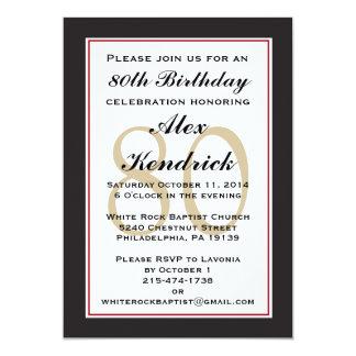 80.o Invitación de la fiesta de cumpleaños