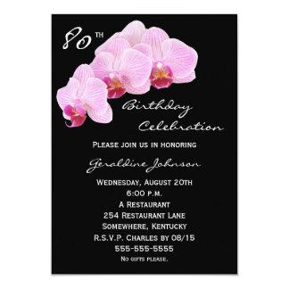 80.o Invitación de la fiesta de cumpleaños --