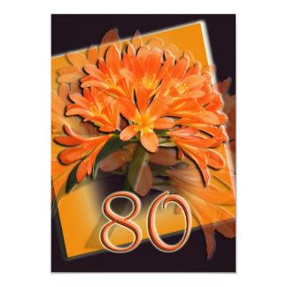 80.o Invitación de la fiesta de cumpleaños Invitación 12,7 X 17,8 Cm