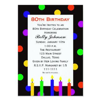 80.o Invitación de la fiesta de cumpleaños -- Invitación 12,7 X 17,8 Cm
