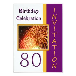 80.o Invitación de la fiesta de cumpleaños - Invitación 12,7 X 17,8 Cm