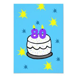 80.o Invitación de la fiesta de cumpleaños 80