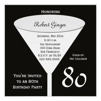 80 o Invitación de la fiesta de cumpleaños -- 80 e