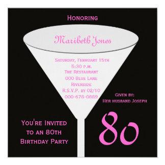 80 o Invitación de la fiesta de cumpleaños -- 80 o