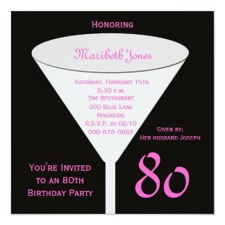 80.o Invitación de la fiesta de cumpleaños -- 80.o