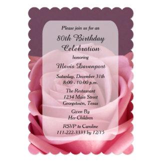 80.o Invitación de la fiesta de cumpleaños con Invitación 12,7 X 17,8 Cm