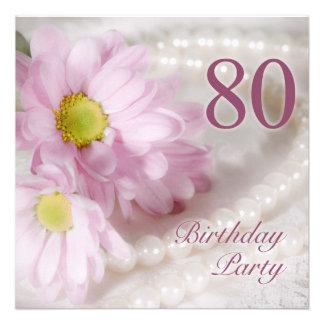 80.o Invitación de la fiesta de cumpleaños con las