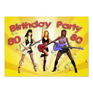 80.o Invitación de la fiesta de cumpleaños con una