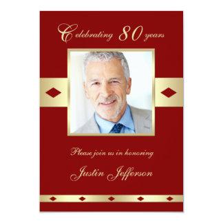 80.o Invitación de la fiesta de cumpleaños de la Invitación 12,7 X 17,8 Cm