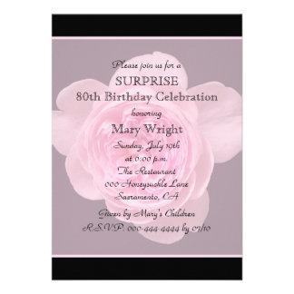 80 o Invitación de la fiesta de cumpleaños de la