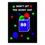 80.o Invitación de la fiesta de cumpleaños de la s Tarjetón
