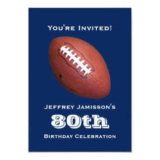 80.o Invitación de la fiesta de cumpleaños, fútbol