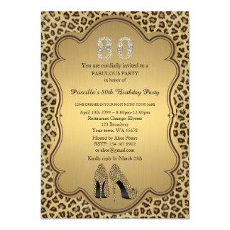 80.o Invitación del cumpleaños, diamantes de los