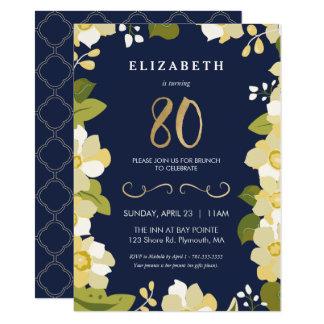 80.o Invitación del cumpleaños, personalizar