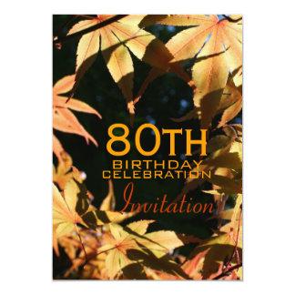 80.o Invitación del personalizado del otoño de la