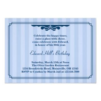 80.o Invitación elegante de la fiesta de Invitación 12,7 X 17,8 Cm