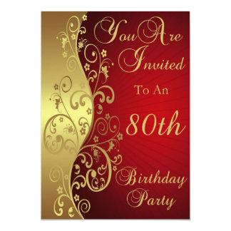 80.o Invitación personalizada de la fiesta de