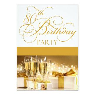80.o Invitación personalizada de la fiesta de Invitación 12,7 X 17,8 Cm