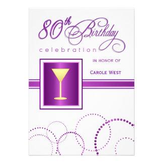 80 o Invitaciones de la fiesta de cumpleaños - con