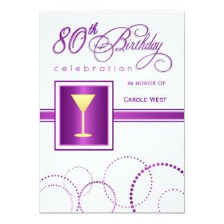 80.o Invitaciones de la fiesta de cumpleaños - con Invitación 12,7 X 17,8 Cm