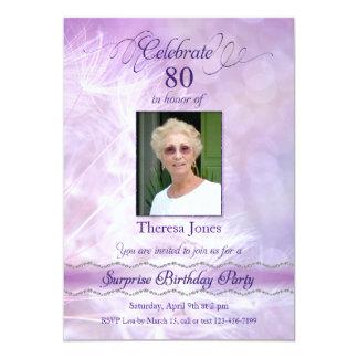 80.o Invitaciones de la fiesta de cumpleaños de la Invitación 12,7 X 17,8 Cm