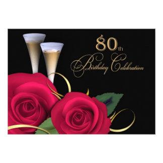80.o Invitaciones del personalizado de la celebrac Anuncios