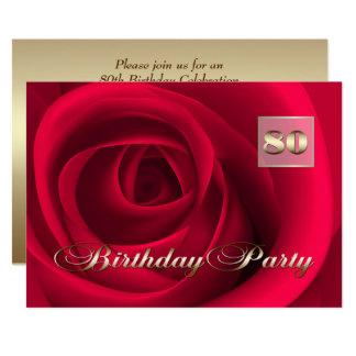 80.o Invitaciones del personalizado de la Invitación 12,7 X 17,8 Cm
