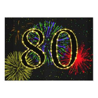 80.o invitate de la fiesta de cumpleaños invitación 12,7 x 17,8 cm