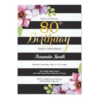 80.o Mujeres de la invitación del cumpleaños.