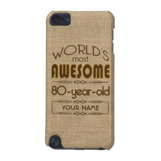 80.o Mundo de la celebración del cumpleaños mejor  Carcasa Para iPod Touch 5